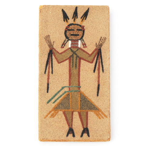 SOLD Sand Painting of Standing Kachina or Yei