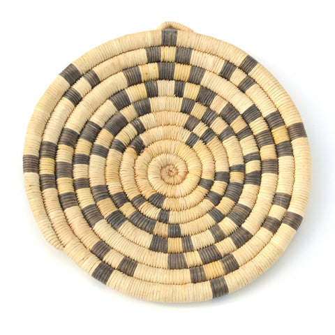 Small Star Pattern Hopi Coil Basket Plaque