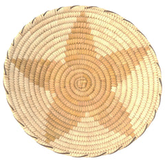 Papago Basket Tray with Star Decoration