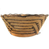 Very Fine Fancy Rim Pima Basket w/ Thunderbird Start
