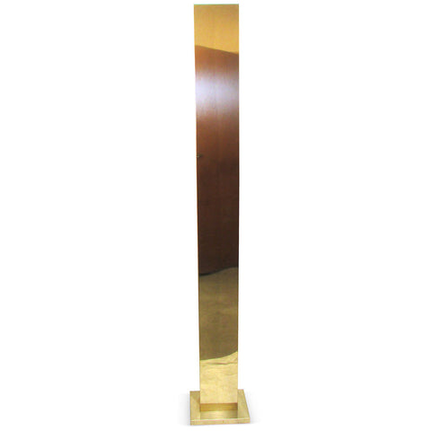 Brass Casella Torchiere Floor Lamp