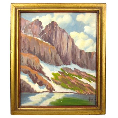 Mountain Cliff Landscape by Lou Bowlds