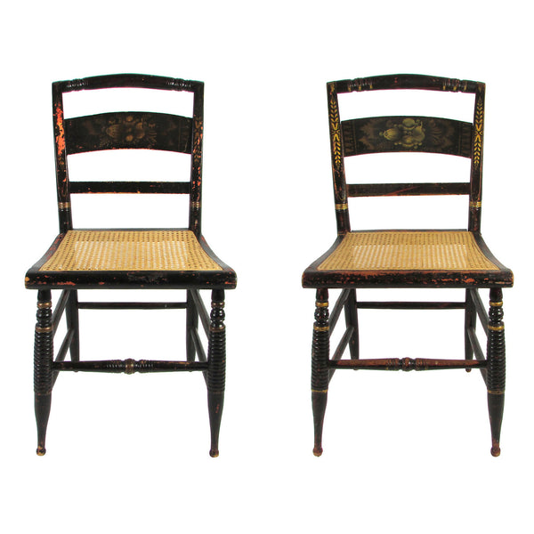 Antique Painted Hitchcock Chairs, Pair