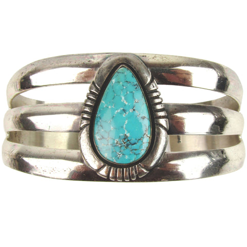 Navajo Silver & Turquoise Cuff