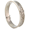 Engraved Sterling Silver Bangle w/ Safety Chain