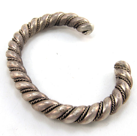 Heavy Hand-Forged Silver Bracelet