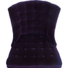 Button-Tufted Velvet Slipper Chair Labeled 1956