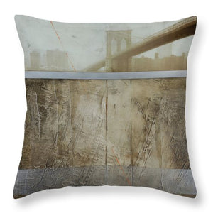 Brooklyn  Fog - Throw Pillow - SEVENART STUDIO
