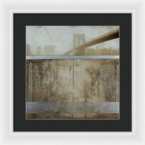 Brooklyn  Fog - Framed Print - SEVENART STUDIO