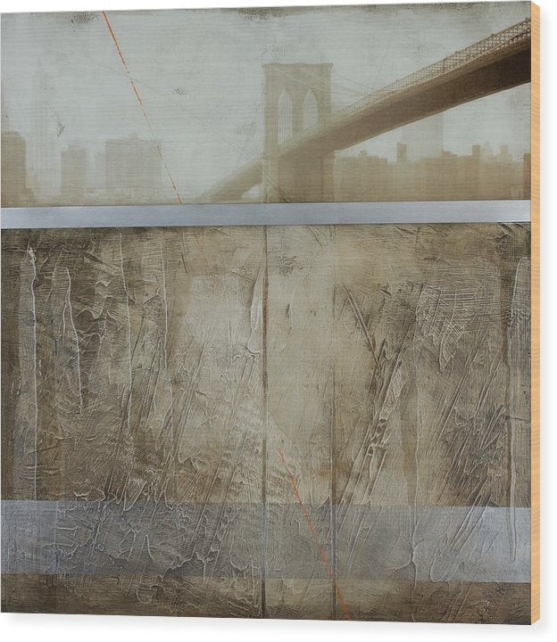 Brooklyn  Fog - Wood Print - SEVENART STUDIO