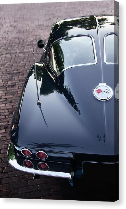 63 Split Window Corvette Canvas Print - SEVENART STUDIO