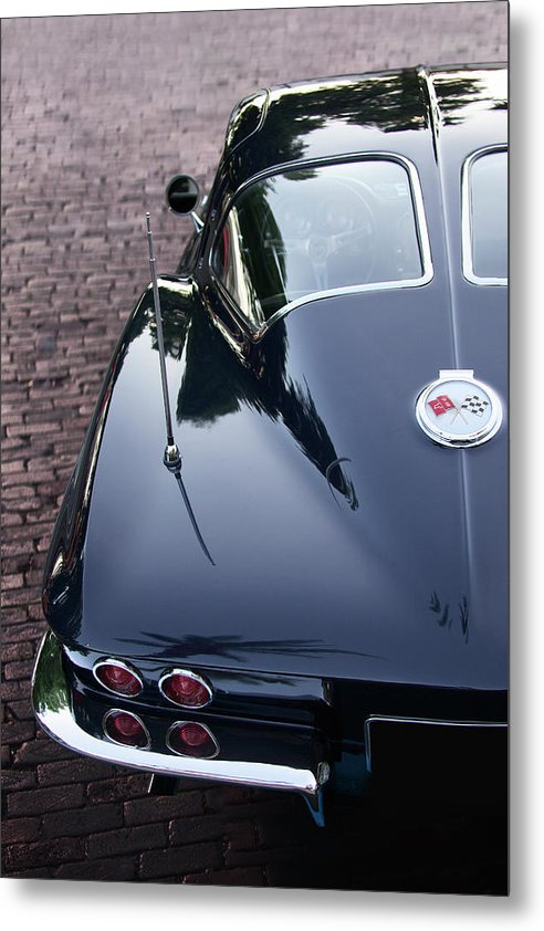 63 Split Window  Corvette Metal Print - SEVENART STUDIO