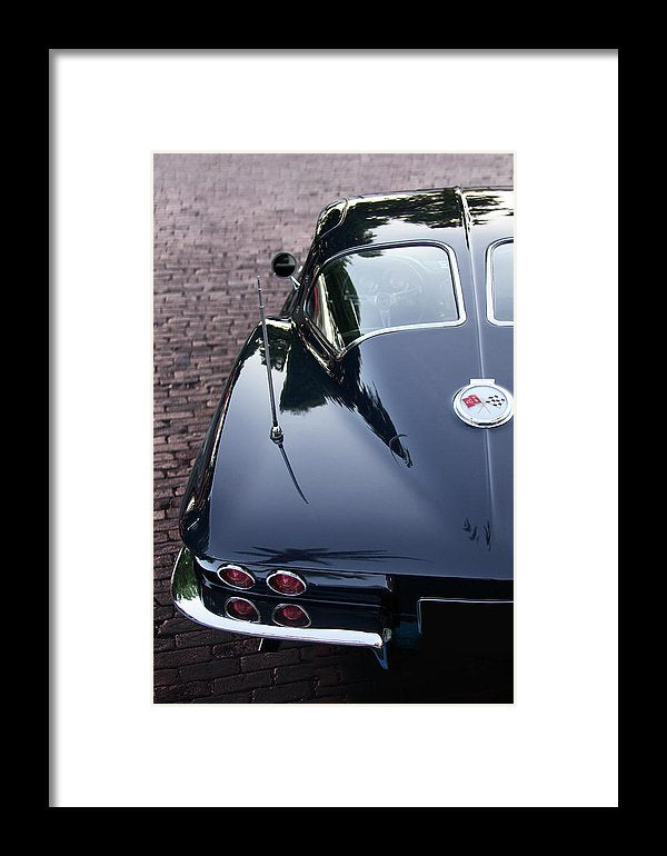 63 Split Window  Corvette Framed Print - SEVENART STUDIO