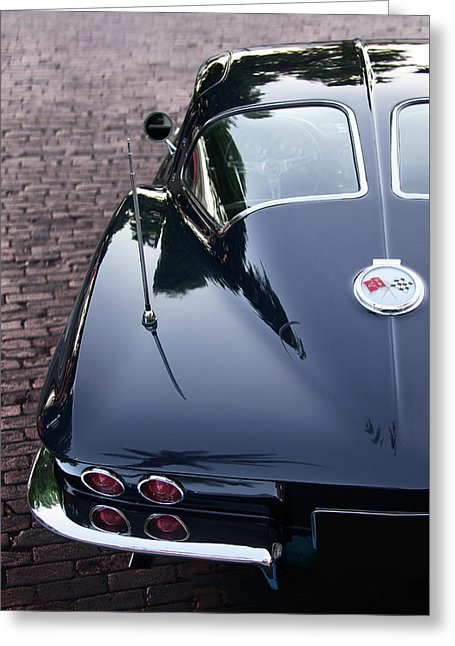 63 Split Window Corvette Greeting Card - SEVENART STUDIO