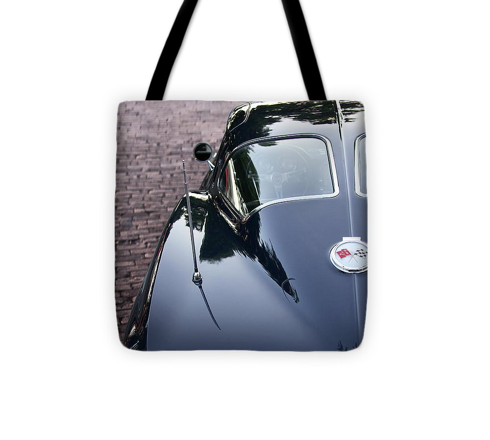 63 Split Window Corvette Tote Bag - SEVENART STUDIO