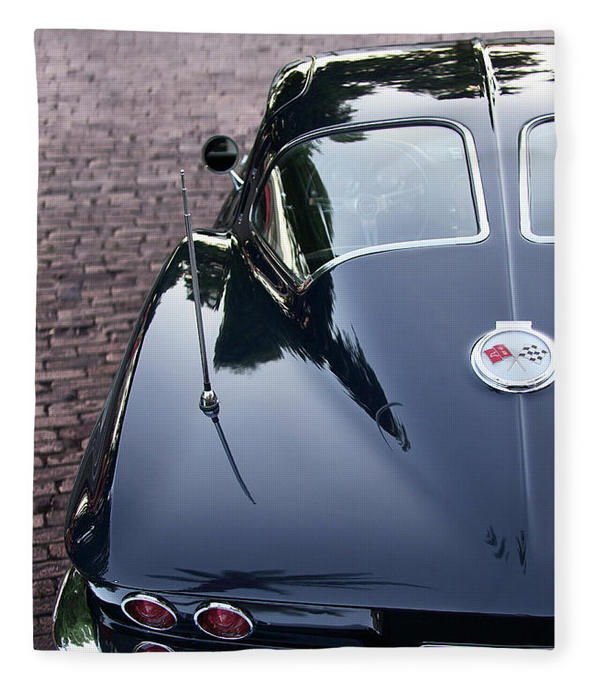63 Split Window Corvette Blanket - SEVENART STUDIO