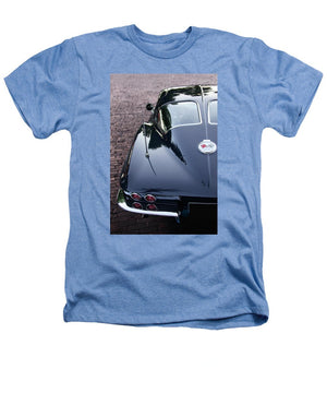 63 Split Window  Corvette Heathers T-Shirt - SEVENART STUDIO