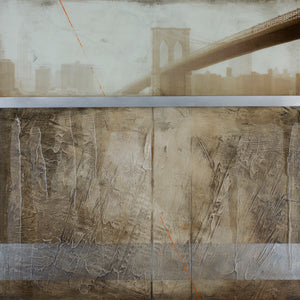 Brooklyn  Fog  - Original Limited Edition Painting - SEVENART STUDIO