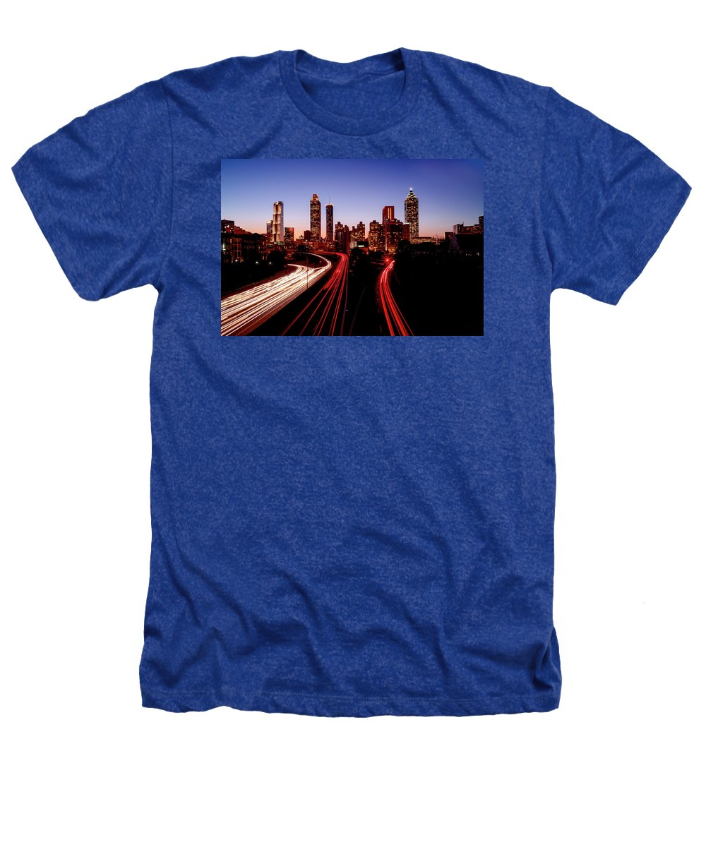 Atlanta At Night - Heathers T-Shirt - sevenart-studio