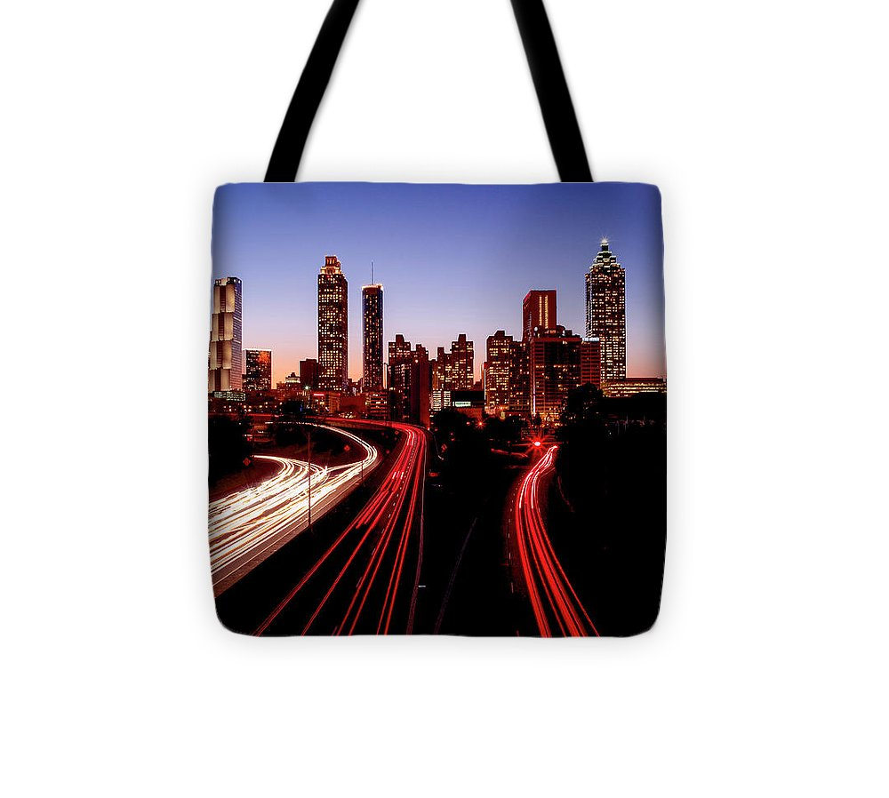 Atlanta At Night - Tote Bag - sevenart-studio