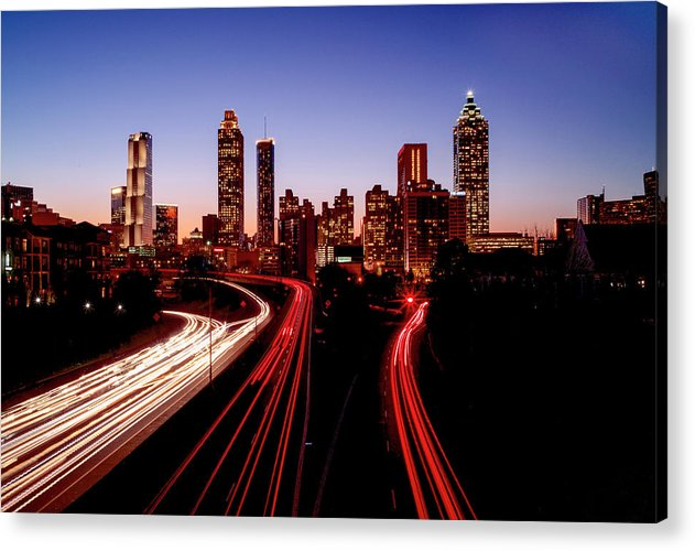 Atlanta At Night - Acrylic Print - SEVENART STUDIO
