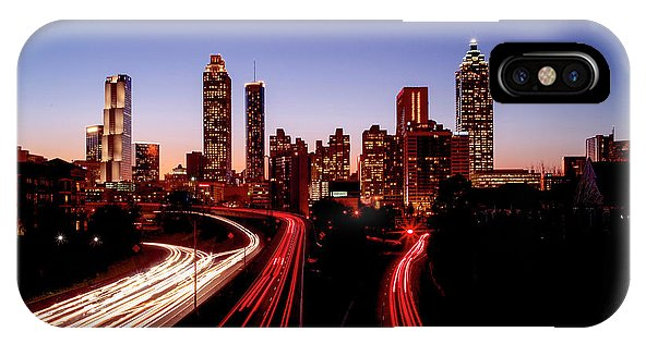 Atlanta At Night - Phone Case - sevenart-studio