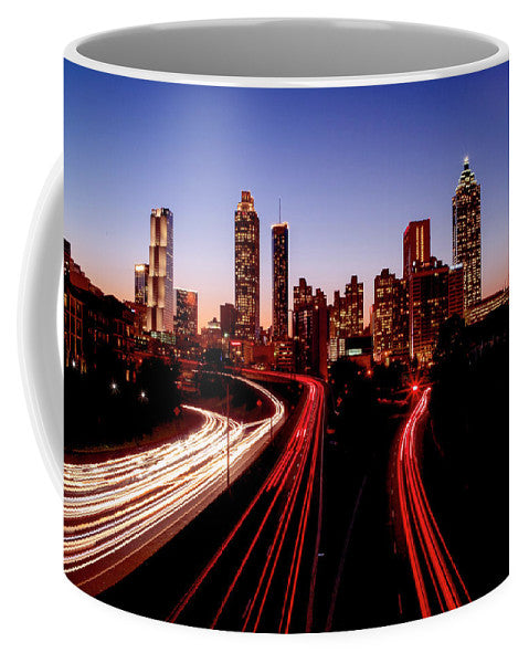 Atlanta At Night - Mug - SEVENART STUDIO