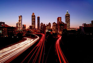 Atlanta At Night - Art Print - SEVENART STUDIO