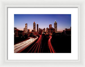 Atlanta At Night - Framed Print - sevenart-studio
