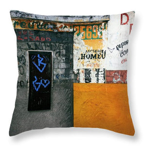 Brazil Graffit B - Throw Pillow - SEVENART STUDIO