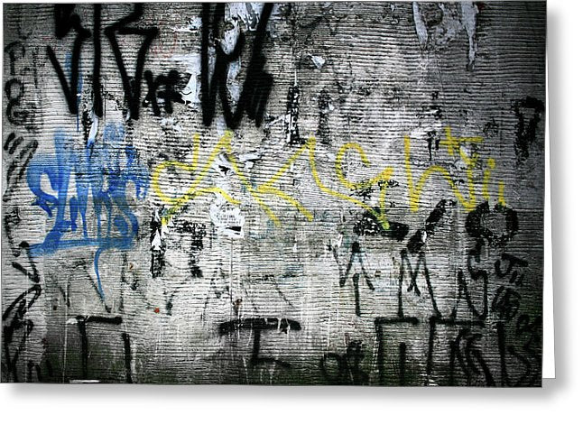 Brazil Graffiti - Greeting Card - SEVENART STUDIO