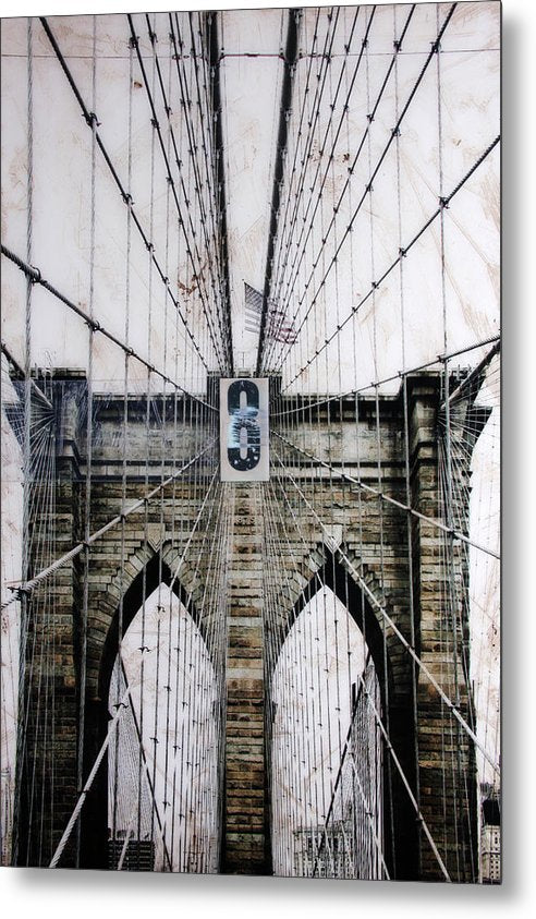 Brooklynn Cables - Metal Print - SEVENART STUDIO