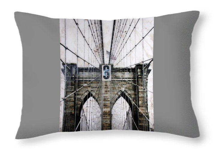 Brooklynn Cables - Throw Pillow - sevenart-studio