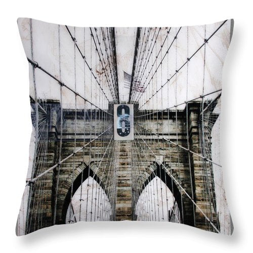 Brooklynn Cables - Throw Pillow - SEVENART STUDIO