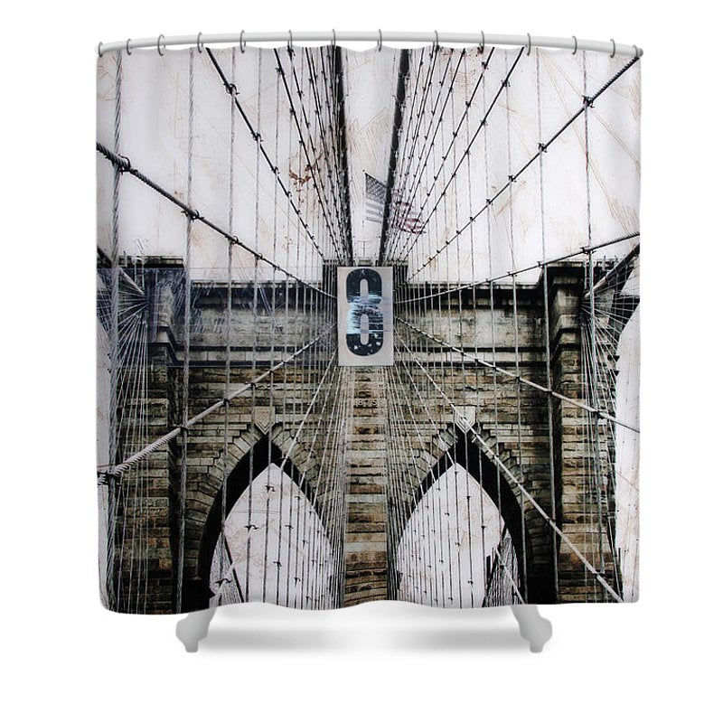 Brooklynn Cables - Shower Curtain - SEVENART STUDIO