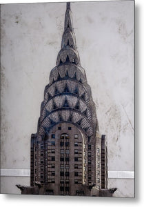Chrysler Building - Metal Print - SEVENART STUDIO