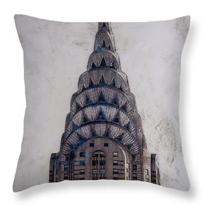 Chrysler Building - Throw Pillow - SEVENART STUDIO