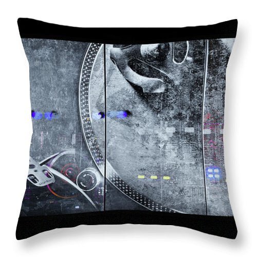Dj Vision Mix - Throw Pillow - sevenart-studio