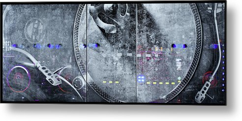 Dj Vision Mix - Metal Print - sevenart-studio