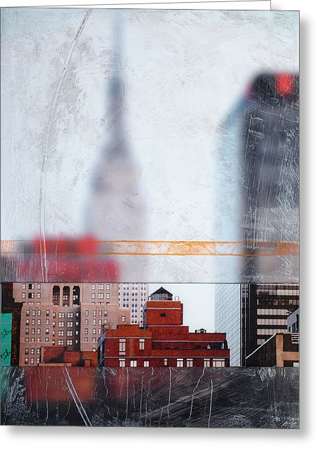 Empire State Blur - Greeting Card - SEVENART STUDIO