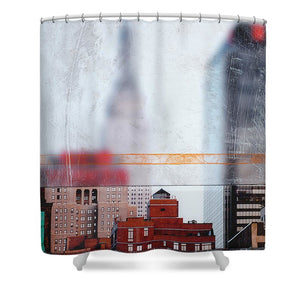 Empire State Blur - Shower Curtain - sevenart-studio