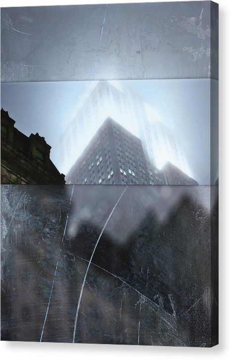 Empire State Fog - Canvas Print - sevenart-studio