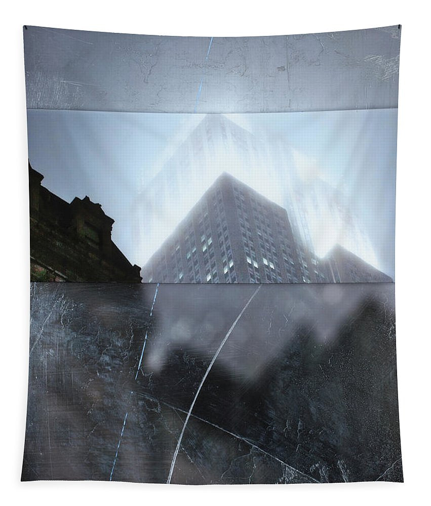 Empire State Fog - Tapestry - sevenart-studio
