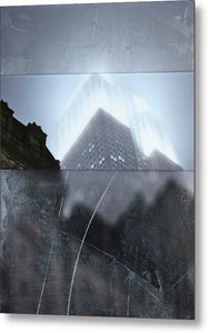 Empire State Fog - Metal Print - SEVENART STUDIO