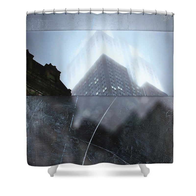 Empire State Fog - Shower Curtain - sevenart-studio