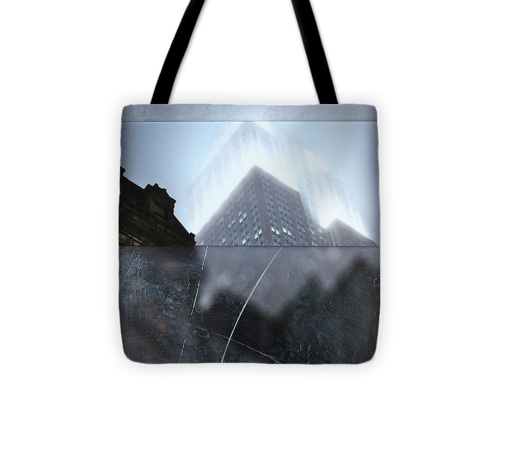Empire State Fog - Tote Bag - SEVENART STUDIO