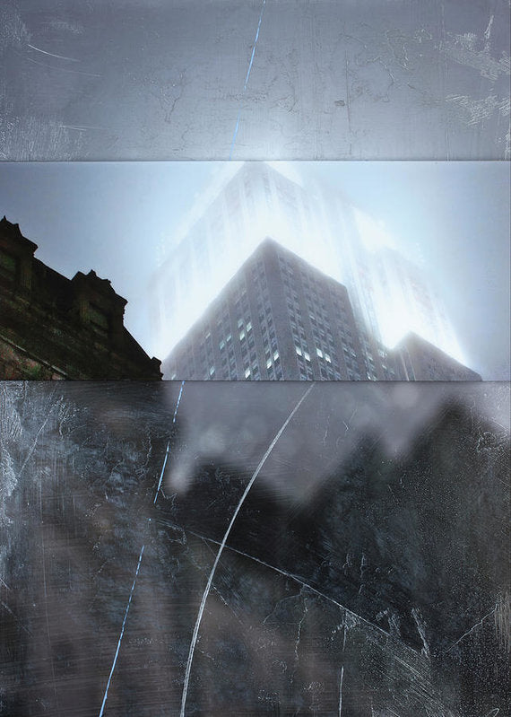 Empire State Fog - Art Print - SEVENART STUDIO