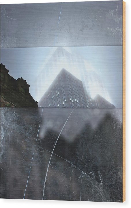 Empire State Fog - Wood Print - SEVENART STUDIO