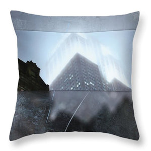 Empire State Fog - Throw Pillow - SEVENART STUDIO