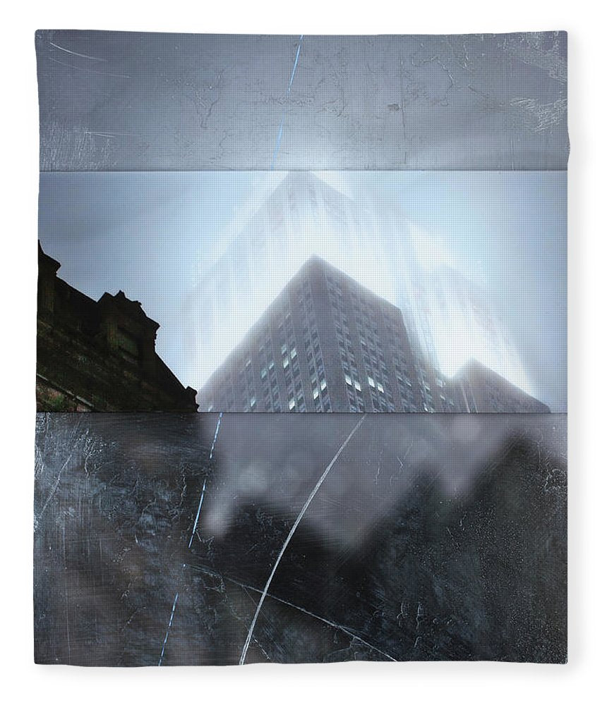 Empire State Fog - Blanket - SEVENART STUDIO